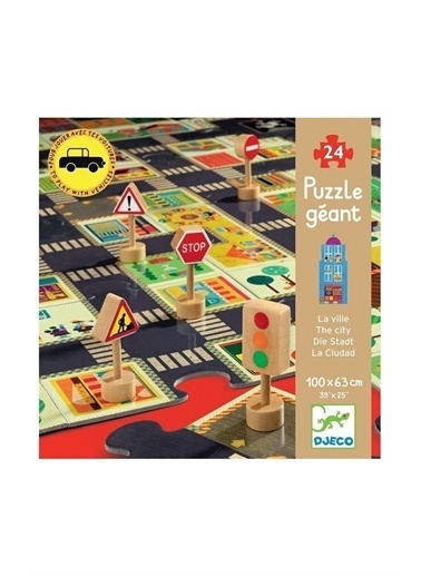 Djeco Djeco Dev Puzzle 24 Parça/ The City Pembe